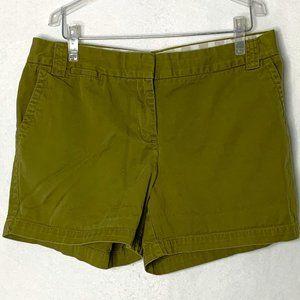 J Crew Military Green High Waisted Shorts 45PE